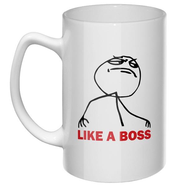 Большая кружка Like a boss