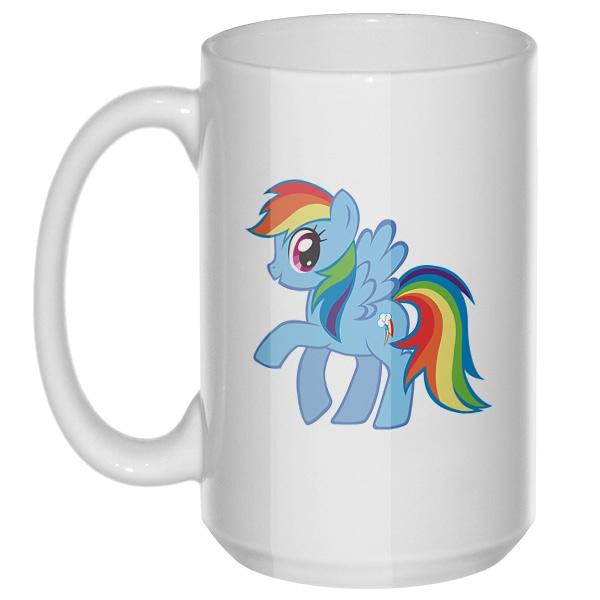 Радуга Дэш (Rainbow Dash), большая кружка с круглой ручкой