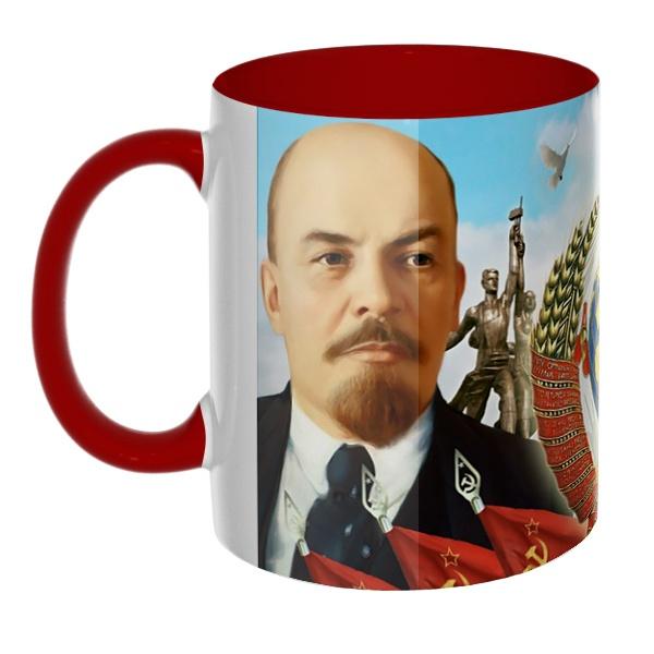 3D-кружка Ленин и Сталин, цветная внутри и ручка