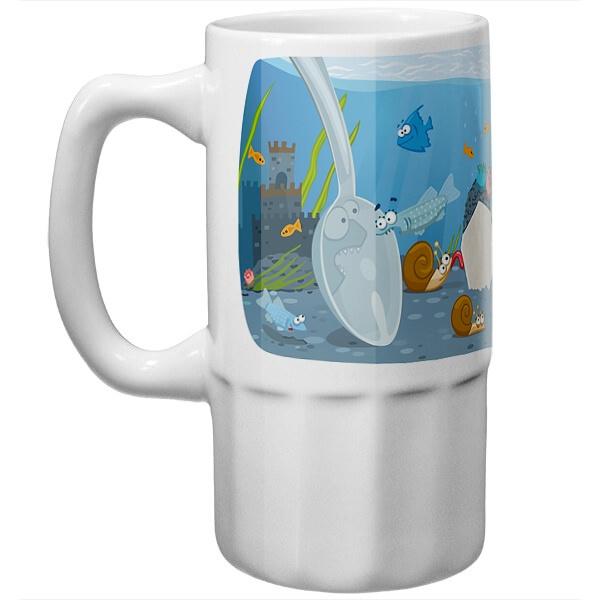 Пивная кружка Аквариум в чашке