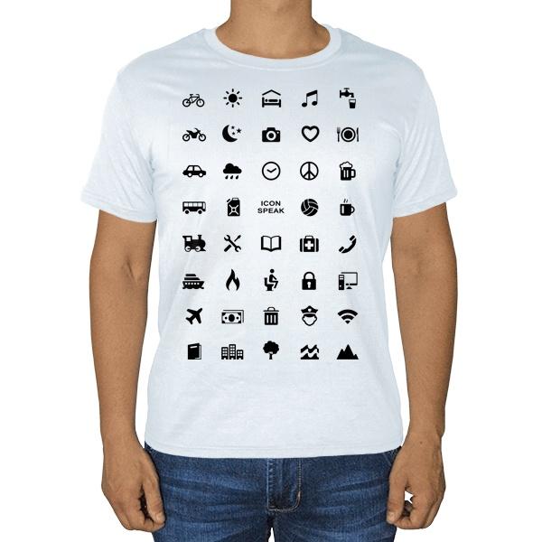Белая футболка Принт для путешественника