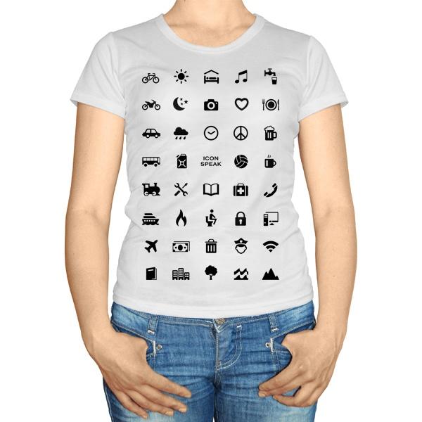 Женская футболка Принт для путешественника