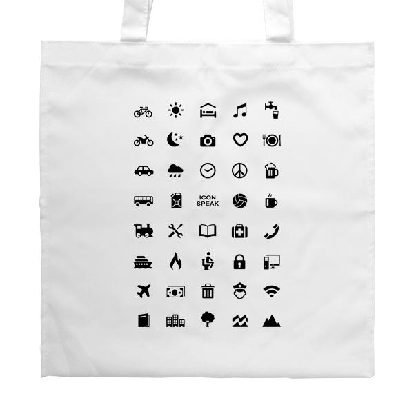 Белая сумка Принт для путешественника