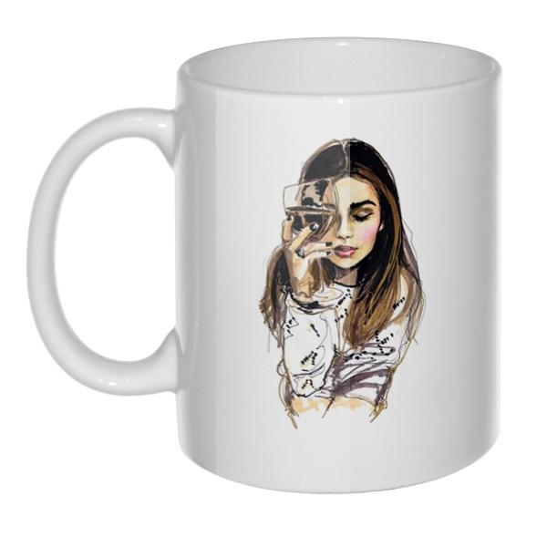 Кружка Хочется винишка и мужика, а пью гребаный чай