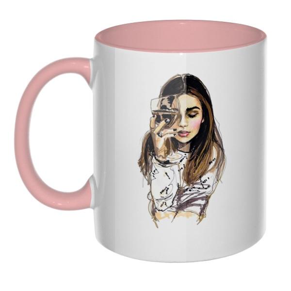 Хочется винишка и мужика, а пью гребаный чай, кружка цветная внутри и ручка