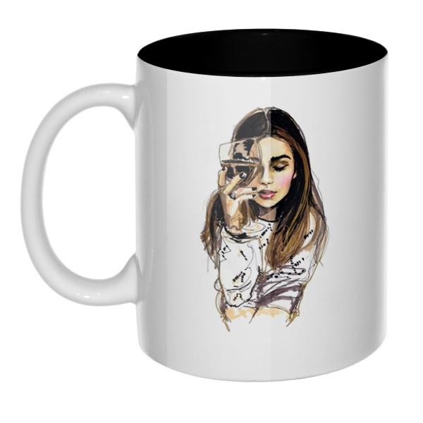 Хочется винишка и мужика, а пью гребаный чай, кружка цветная внутри