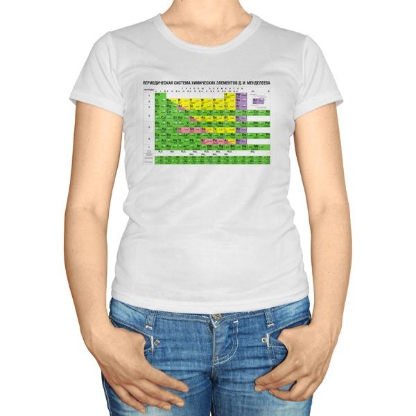 Женская футболка Таблица Менделеева
