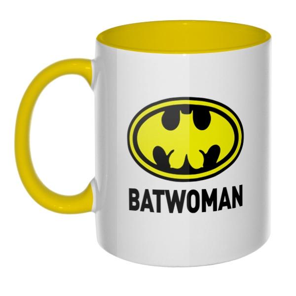 Batwomen, кружка цветная внутри и ручка