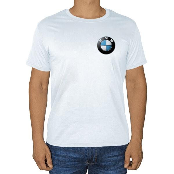 Белая футболка Логотип BMW