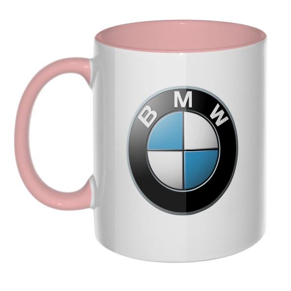 BMW, кружка цветная внутри и ручка