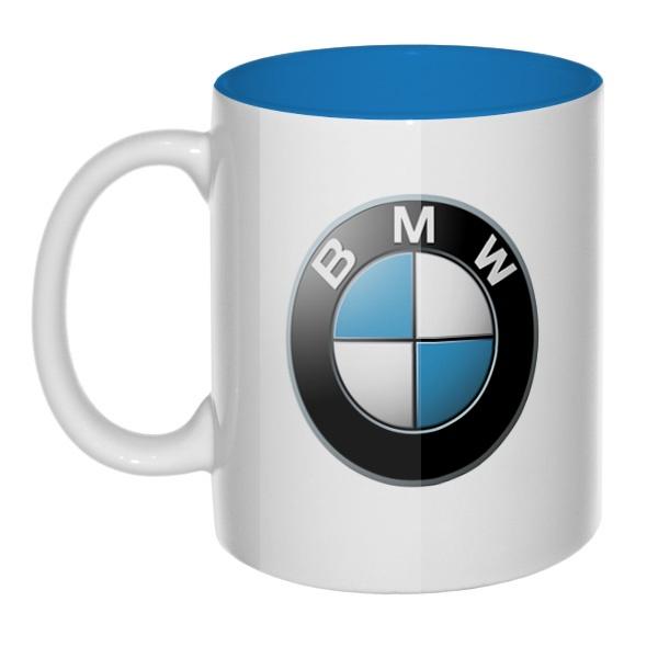 Лого BMW, кружка цветная внутри