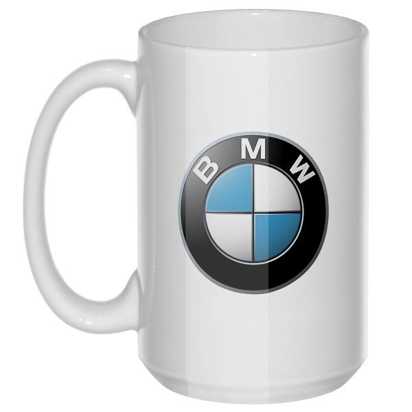 BMW, большая кружка с круглой ручкой