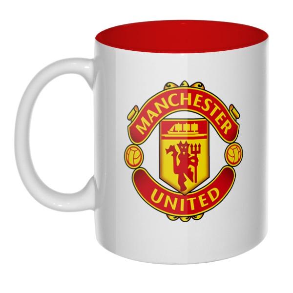 Манчестер Юнайтед, кружка цветная внутри