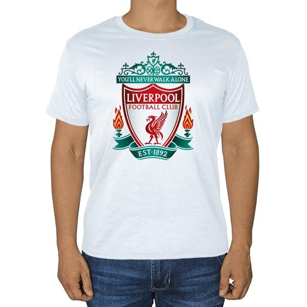 Белая футболка ФК Ливерпуль