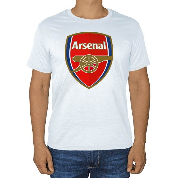 Белая футболка Эмблема ФК Арсенал