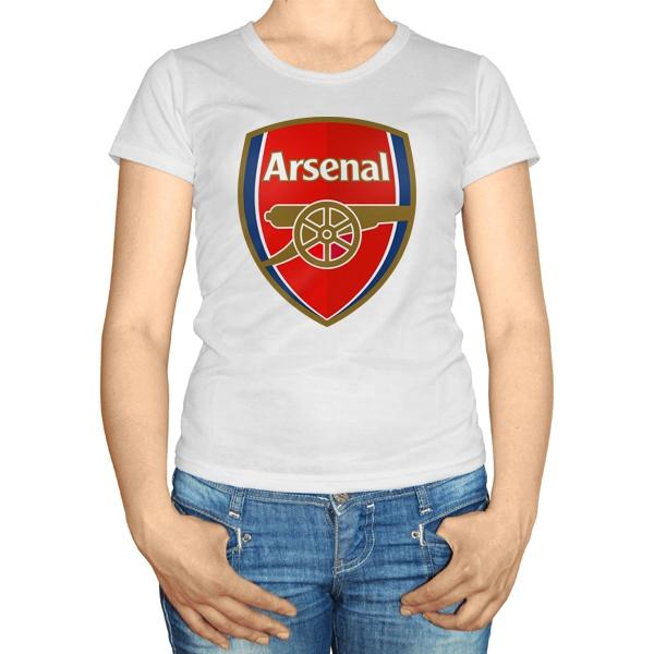 Женская футболка Логотип ФК Арсенал
