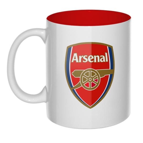 Логотип ФК Арсенал, кружка цветная внутри