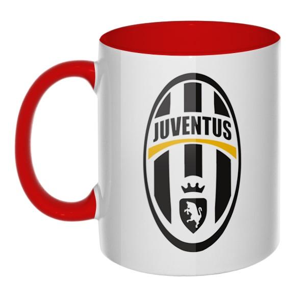 Эмблема ФК Ювентус, кружка цветная внутри и ручка