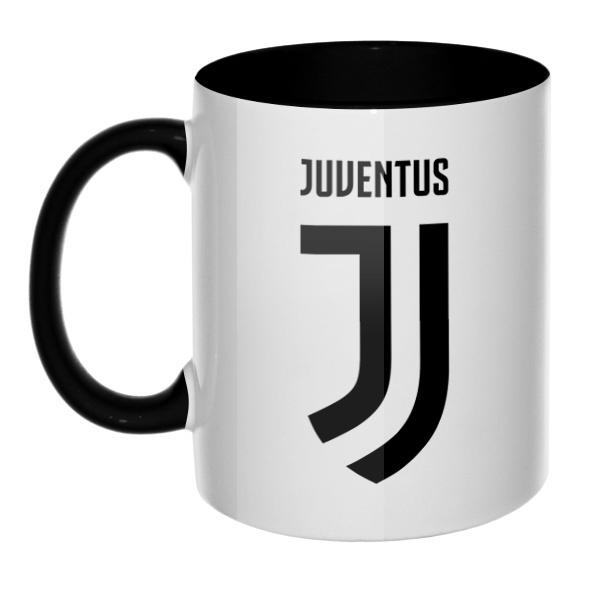 Juventus, кружка цветная внутри и ручка