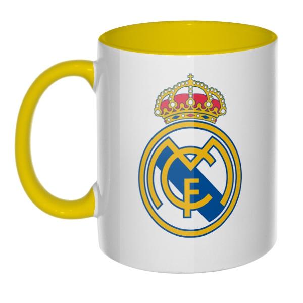 ФК Реал Мадрид, кружка цветная внутри и ручка