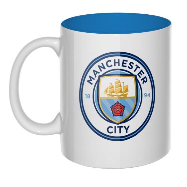 Манчестер Сити, кружка цветная внутри