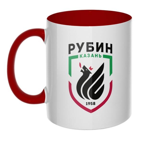 ФК Рубин, кружка цветная внутри и ручка