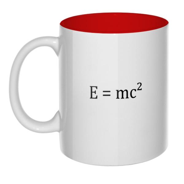 E=mc², кружка цветная внутри