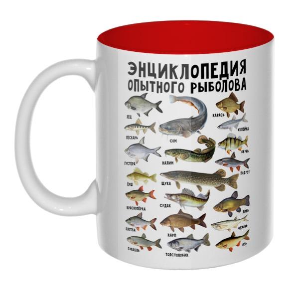 Энциклопедия опытного рыболова, кружка цветная внутри