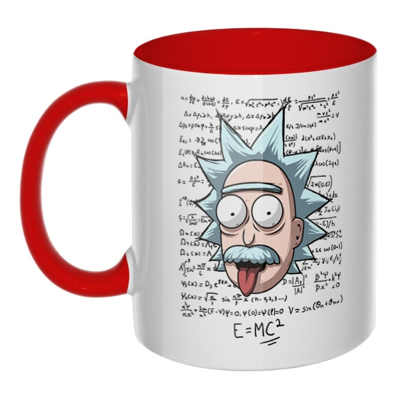 Rick Einstein, кружка цветная внутри и ручка