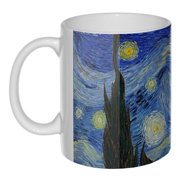 Звездная ночь Ван Гог, 3D-кружка , цвет белый