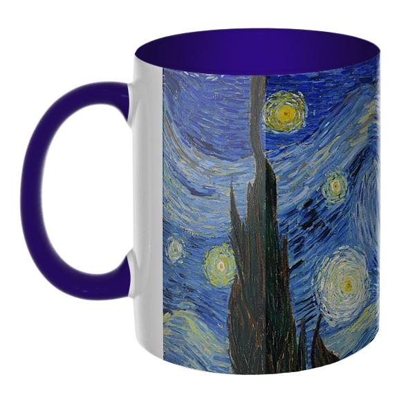 3D-кружка Звездная ночь Ван Гог, цветная внутри и ручка