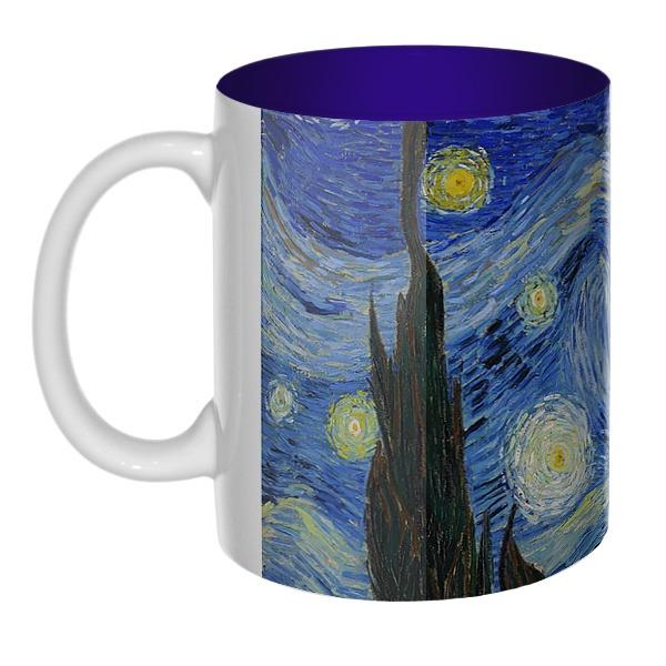 Цветная внутри 3D-кружка Звездная ночь Ван Гог