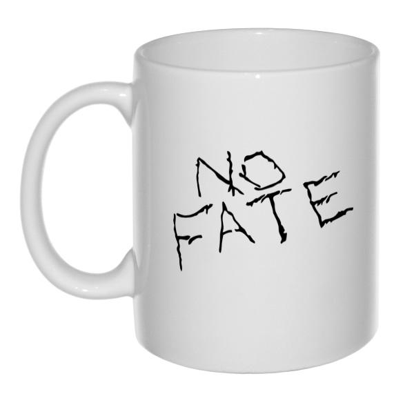 Белая кружка No fate (Нет судьбы), цвет белый