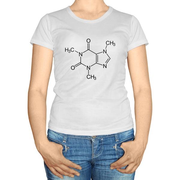 Женская футболка Кофеин