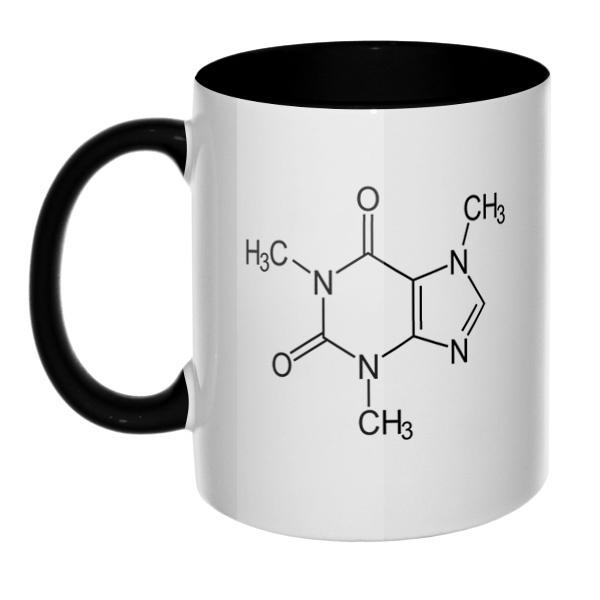 Кофеин, кружка цветная внутри и ручка