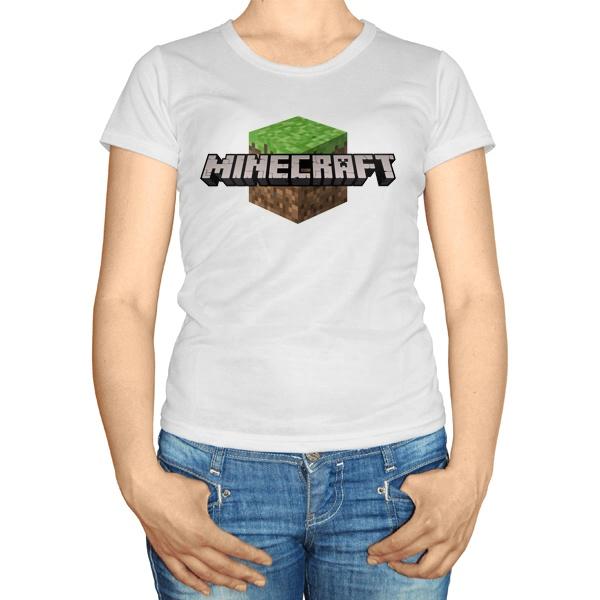 Женская футболка Майнкрафт