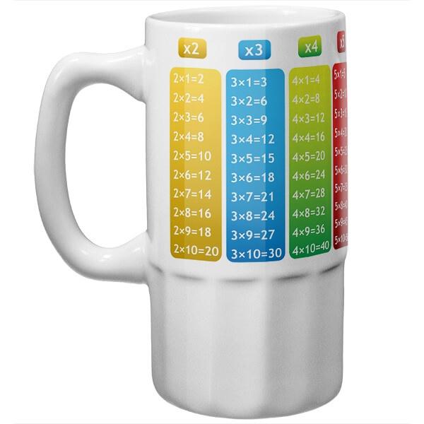 Пивная кружка Таблица умножения