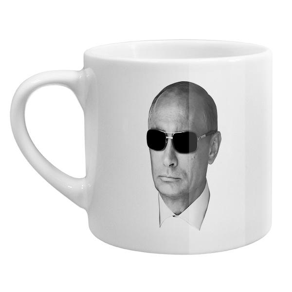 Кофейная чашка Путин в очках