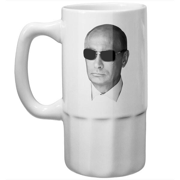 Пивная кружка Путин в очках