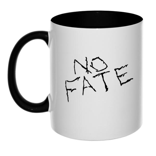 Кружка No fate (Нет судьбы), цветная внутри, цветная ручка