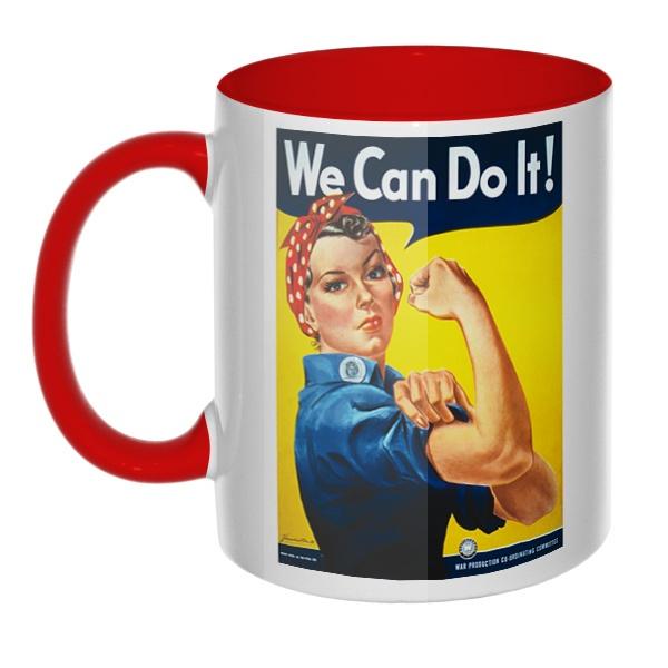 We can do it!, кружка цветная внутри и ручка