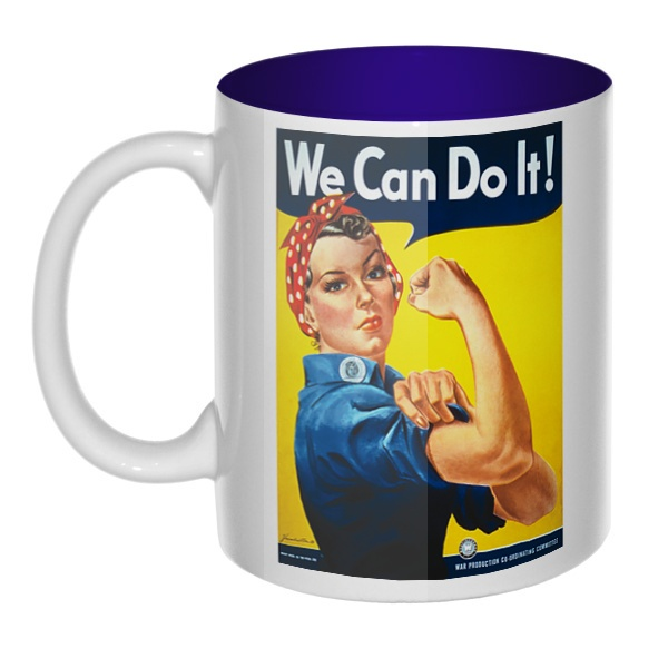 We can do it!, кружка цветная внутри