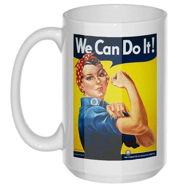 We can do it!, большая кружка с круглой ручкой