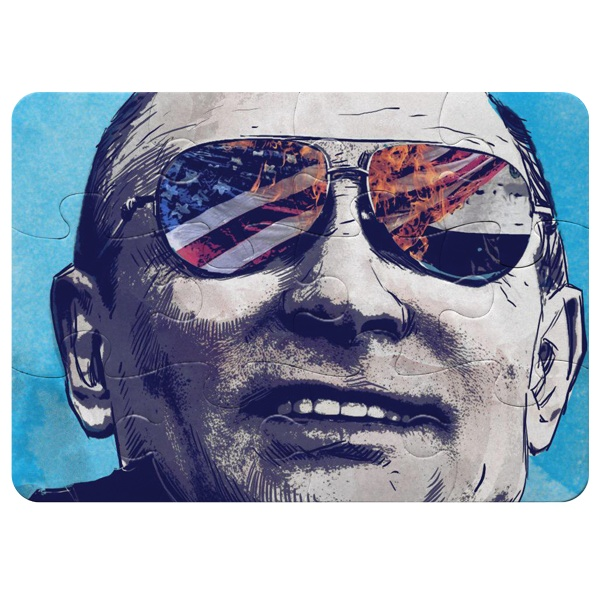 Магнитный пазл А5 (12 элементов) Путин