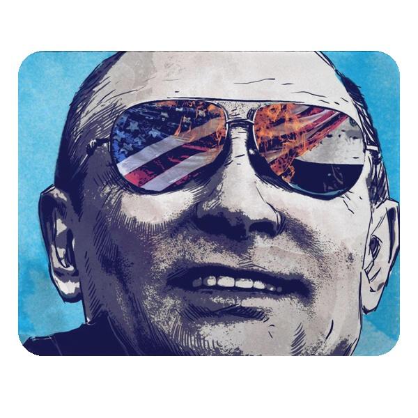 Прямоугольный коврик для мыши Путин