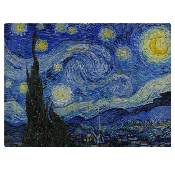 Магнитный пазл А5 Звездная ночь (Ван Гог)