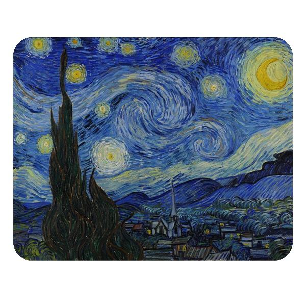 Прямоугольный коврик для мыши Звездная ночь (Ван Гог)