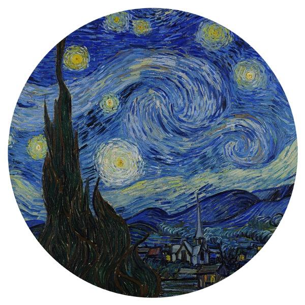 Круглый коврик для мыши Звездная ночь (Ван Гог)