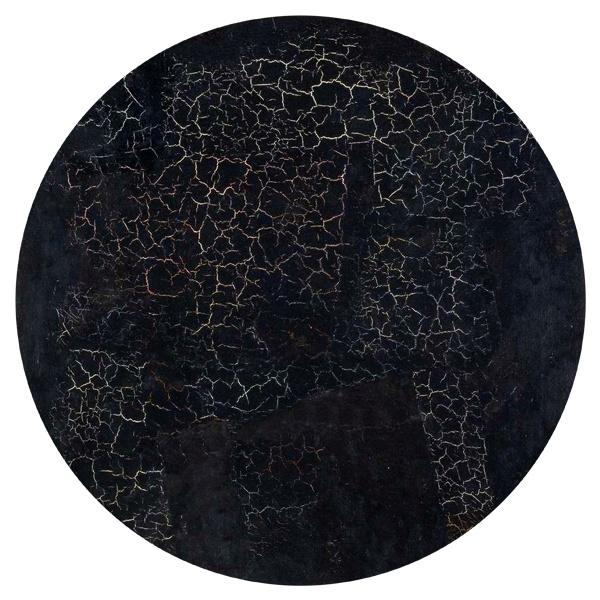 Круглый коврик для мыши Черный квадрат Малевича