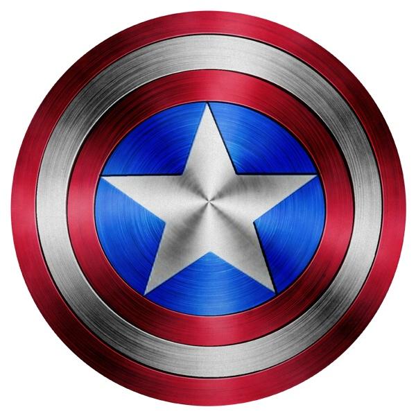 Круглый коврик для мыши Эмблема Капитана Америки